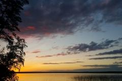 Закат_на_Высокинское озеро