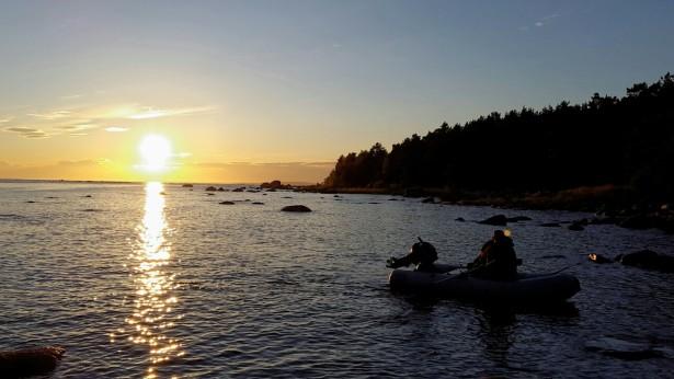 Вечер рыбалка на Финском заливе