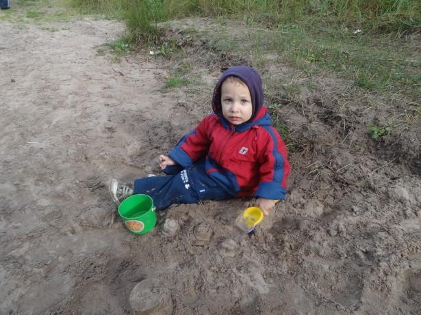 Куличики из песка