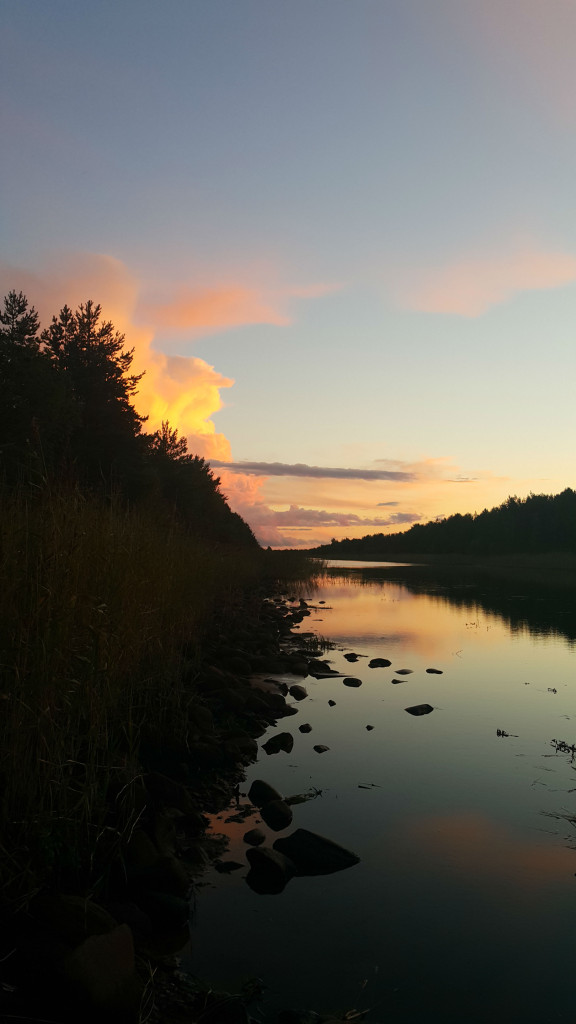 Закат на Новоладожском канале