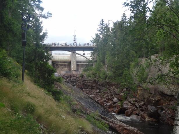 мост на порогах в Иматре