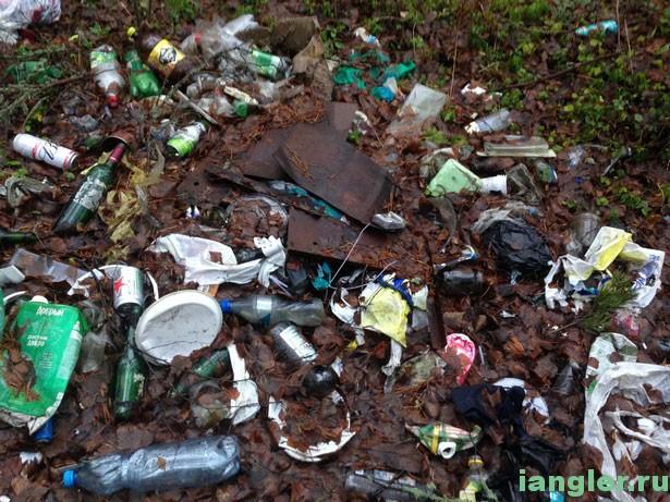 мусор на озере