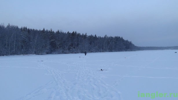 ставим жерлицы на озере