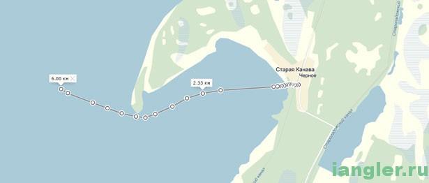 карта бухты в Чёрном
