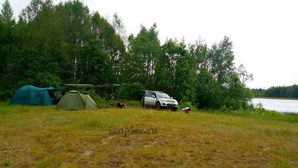 палатки на природе