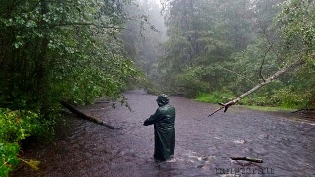 дождик на рыбалке