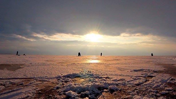 Финский залив зимой