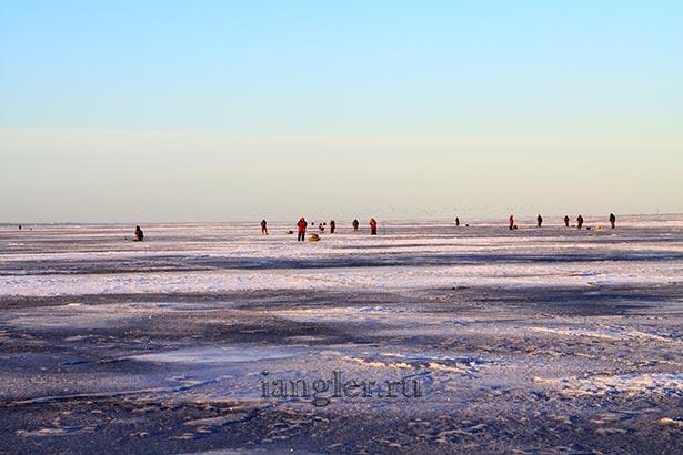Рыбаки на финском заливе