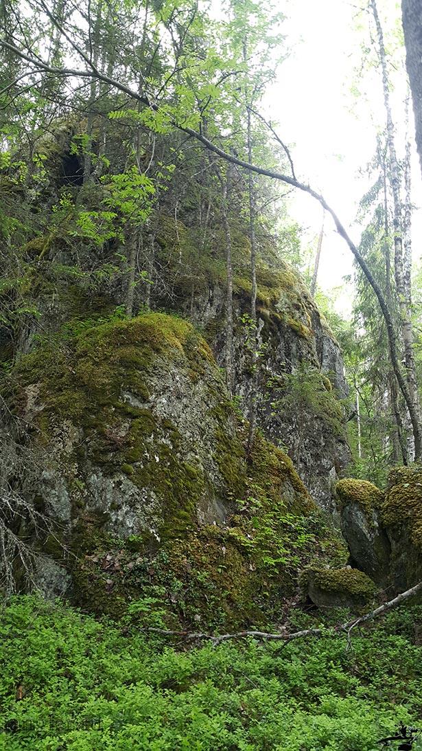 Камни в лесах Карелии